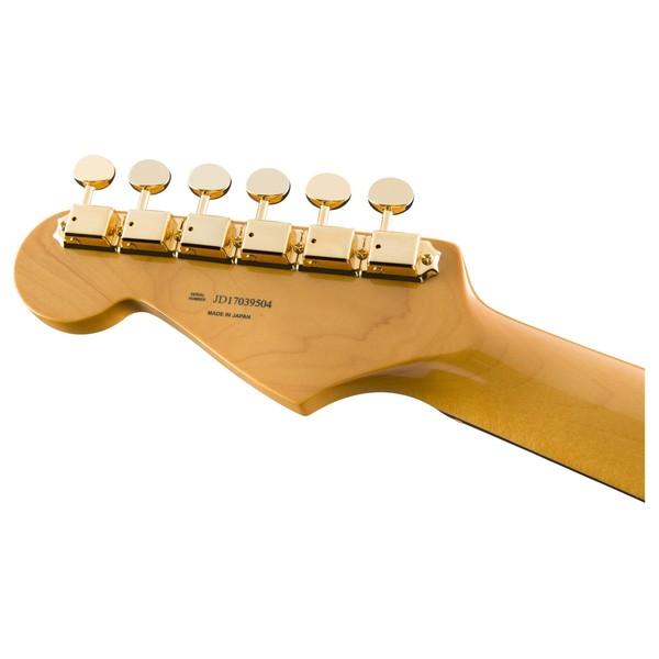 Fender MIJ Midnight Traditional 60s Stratocaster Headstock Back