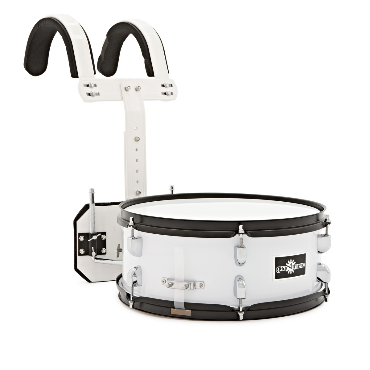 "14"" X 5.5"" Marching Snare Drum with Carrier by Gear4music - B-Stock"