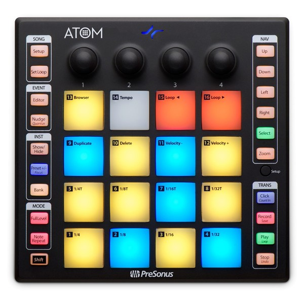 PreSonus ATOM USB Pad Controller - Top