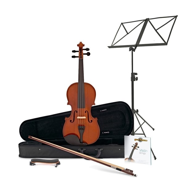 Student 1/2 Violin + Accessory Pack by Gear4Music