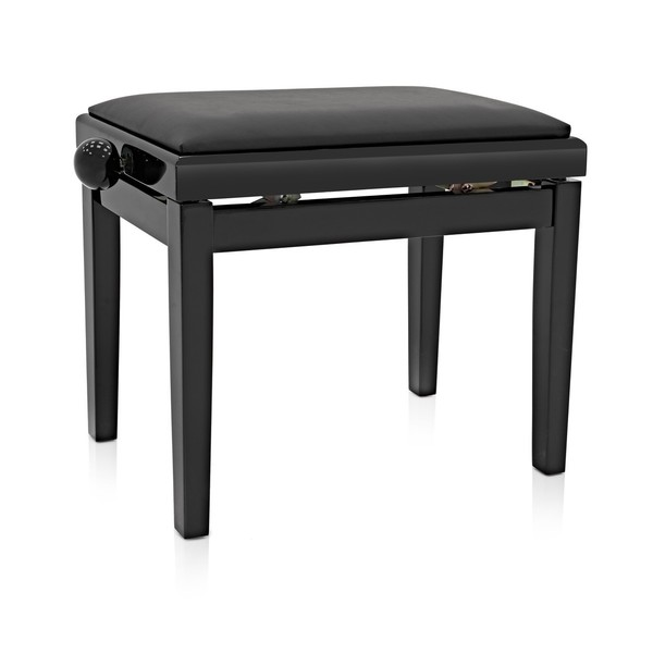 Adjustable Piano Stool by Gear4music, Polished Ebony