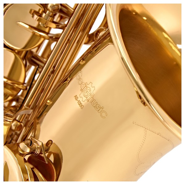 Alto Saxophone by Gear4music, Gold close