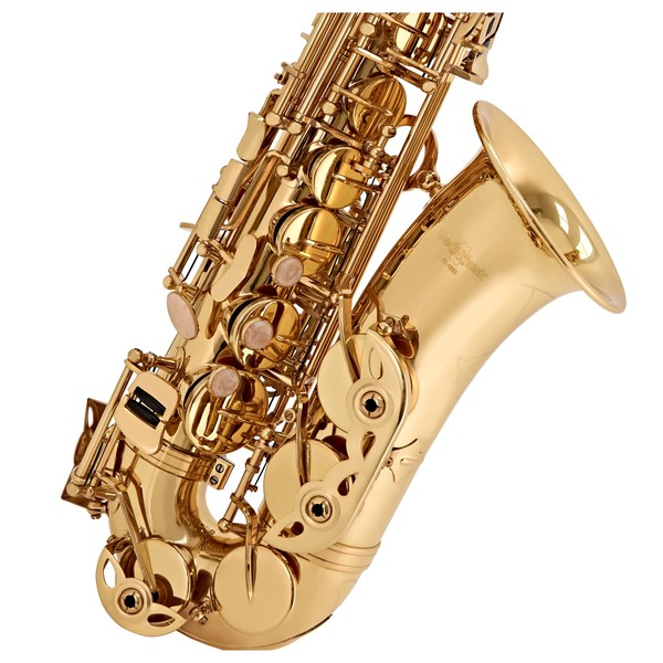 Alto Saxophone by Gear4music, Gold close 2