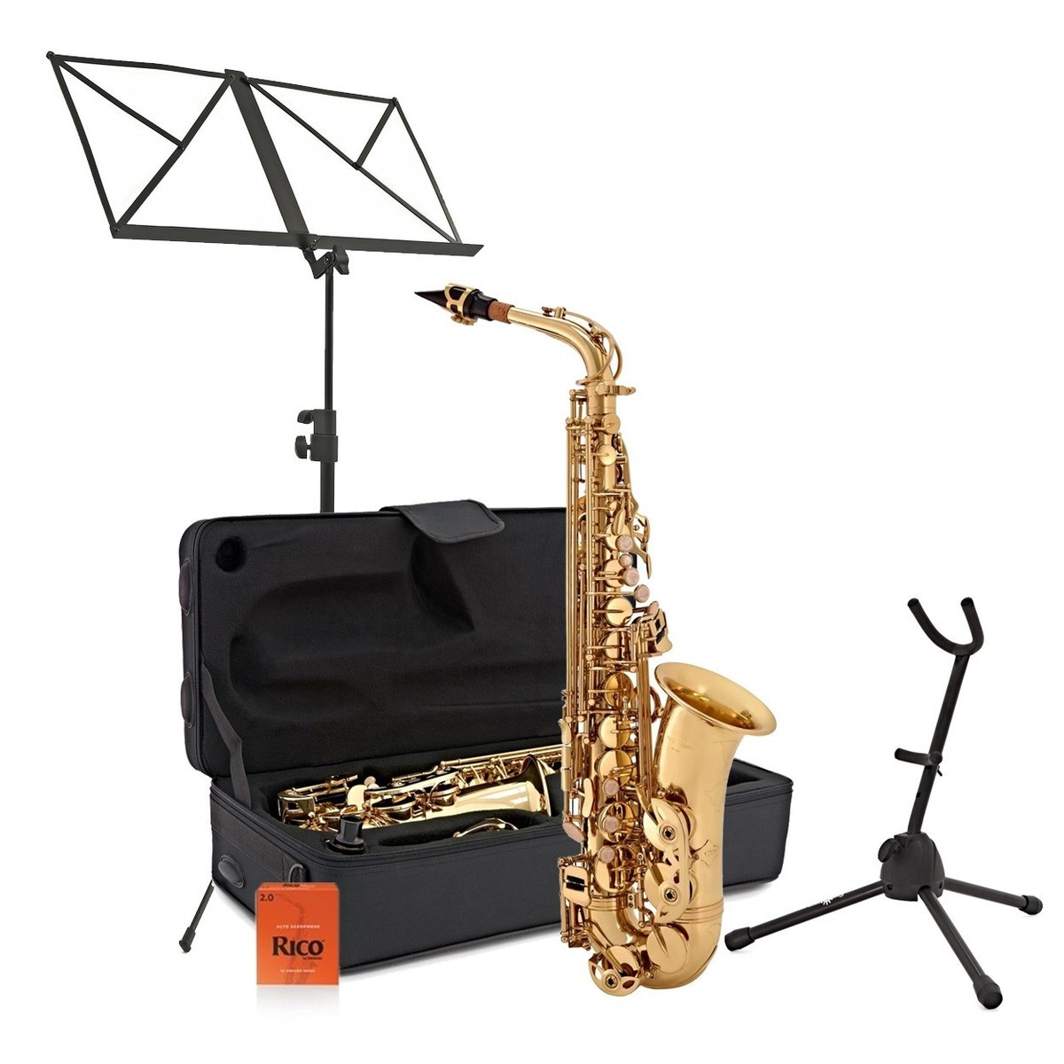 Click to view product details and reviews for Alto Saxophone Complete Package Gold.