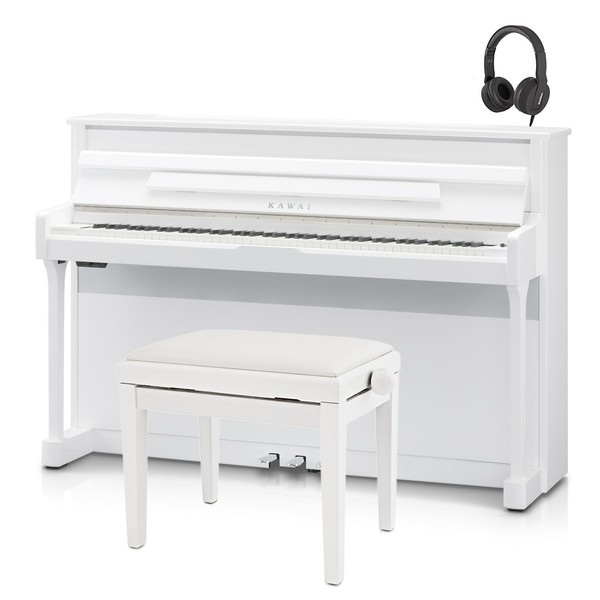 Kawai CS11 Digital Piano Package, Polished White