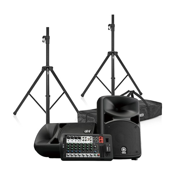 Yamaha Stagepas 600BT Portable PA System with Speaker Stands