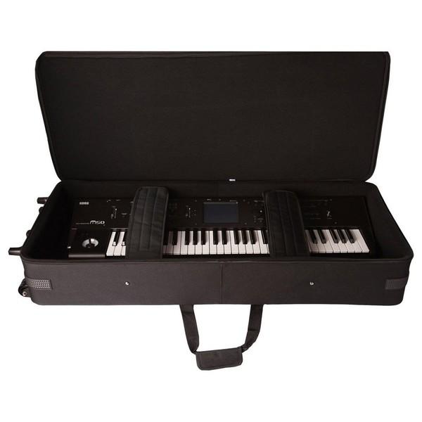 Gator GK-49 Rigid Keyboard Case, Open with Keyboard