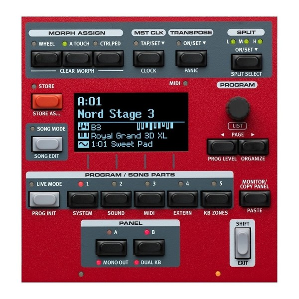 Nord Stage 3 Compact Digital Piano - Control Detail