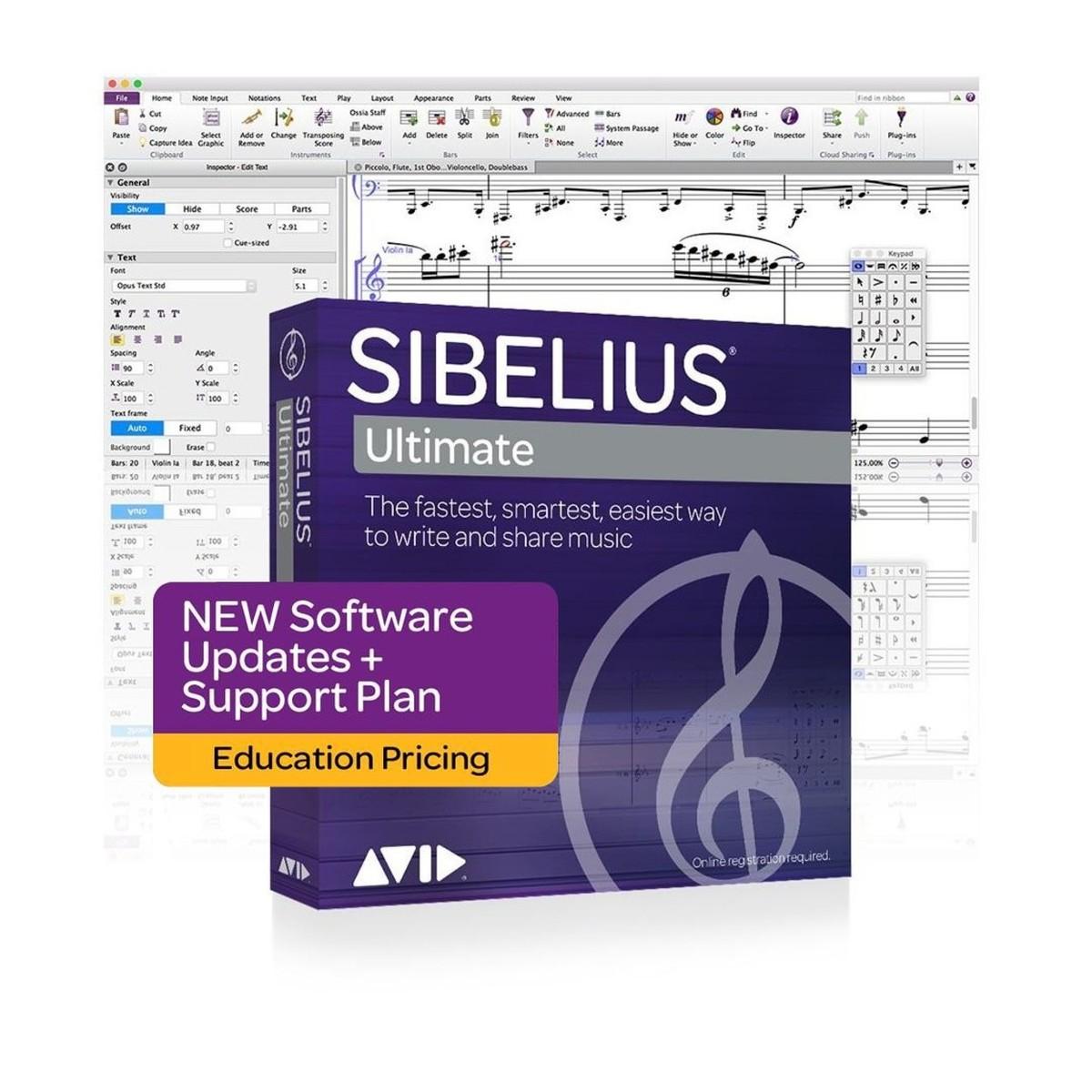 Sibelius Ultimate New Support Plan (Student/Teacher) bei Gear4music