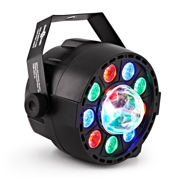 12W RGB Party Mini Par Light With Crystal Ball by Gear4music