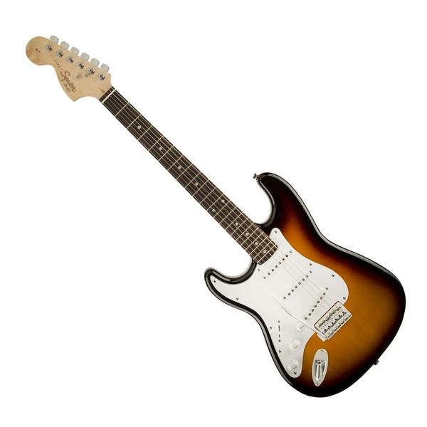 Squier Affinity Stratocaster Left Handed, Laurel Brown Sunburst - Front
