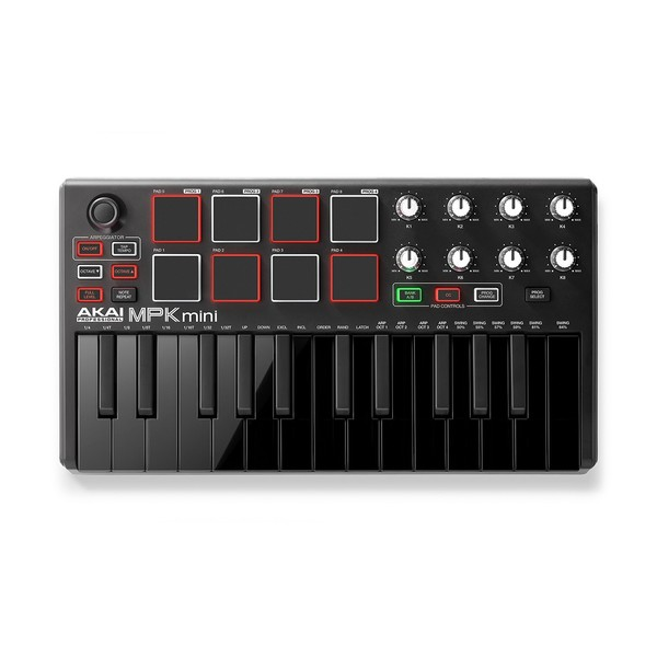 MPK Mini 2 Black - FrontFacing