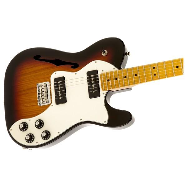 Fender Modern Player Telecaster Thinline Deluxe, 3 Colour Sunburst Right