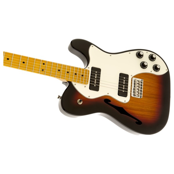 Fender Modern Player Telecaster Thinline Deluxe, 3 Colour Sunburst Left