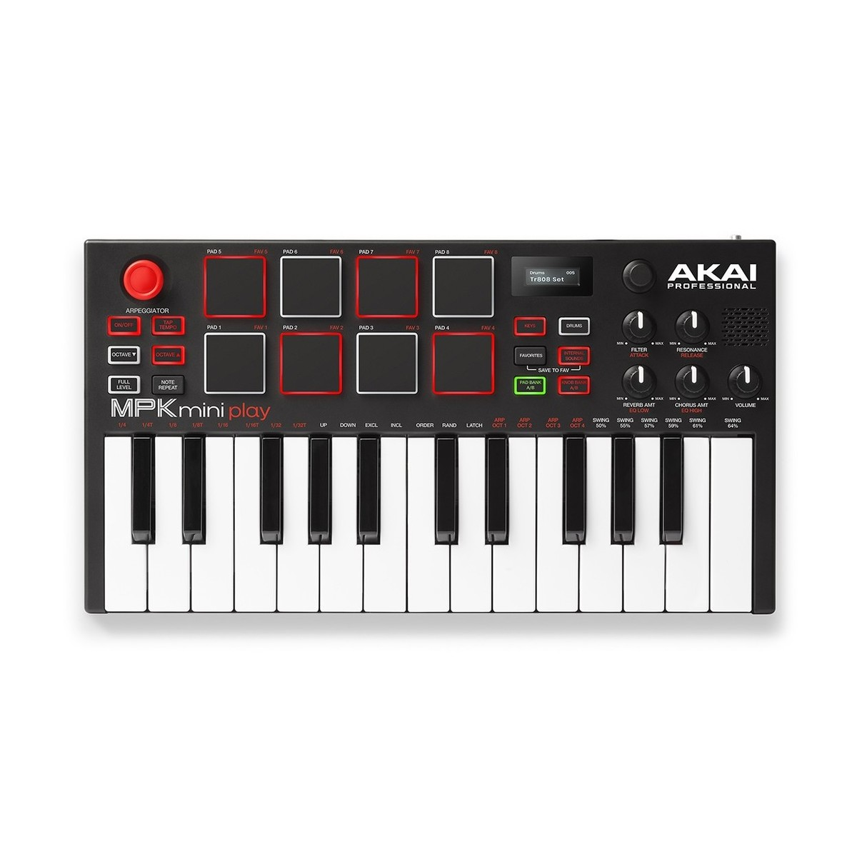 akai mpk mini play standalone keyboard and midi controller at gear4music. Black Bedroom Furniture Sets. Home Design Ideas