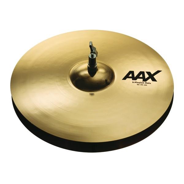 Sabian AAX 16'' X-Plosion Hi-Hat Cymbals, Brilliant Finish - Main Image