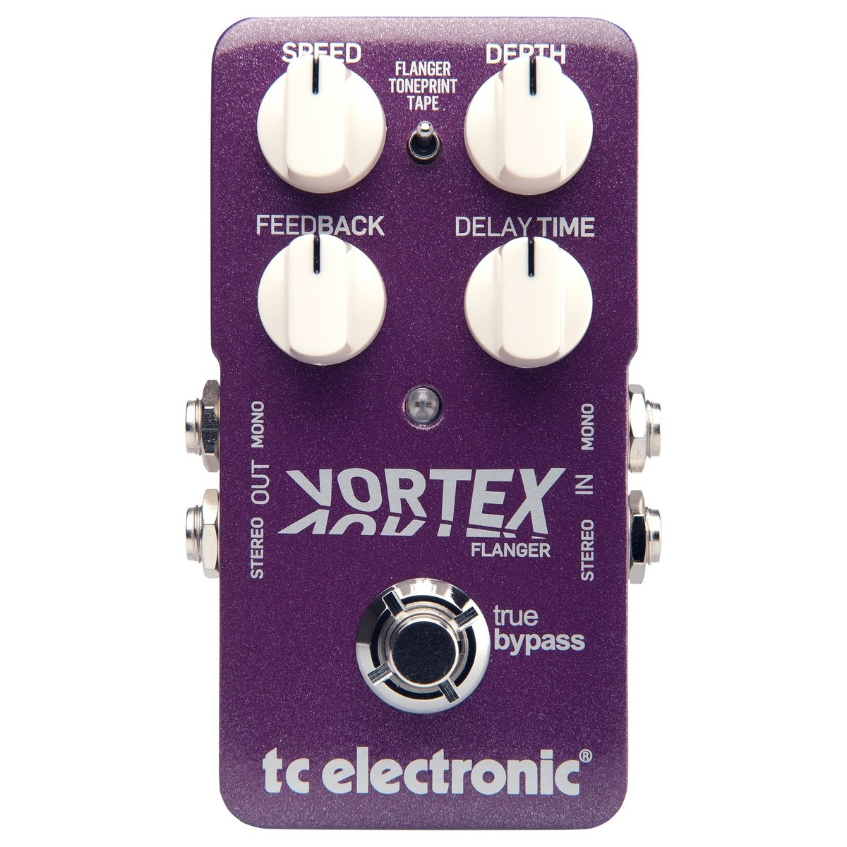 Click to view product details and reviews for Tc Electronic Vortex Flanger Pedal Box Opened.
