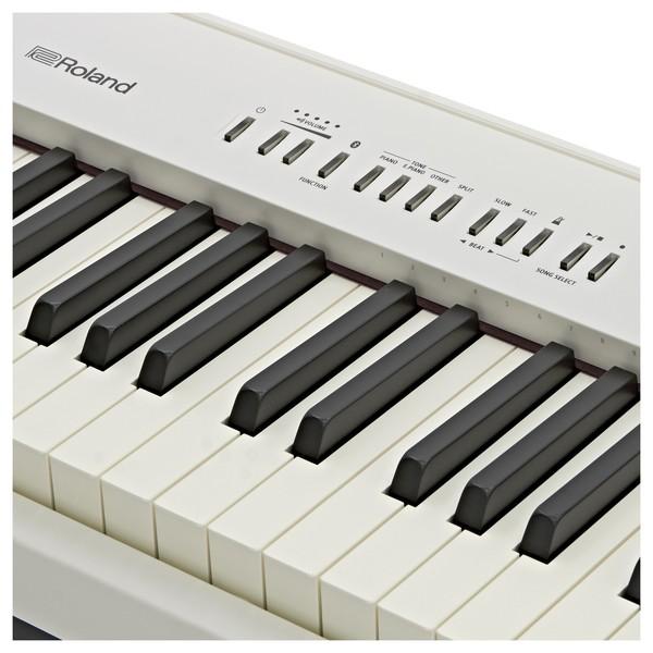 Roland FP 30 Digital Piano, White close