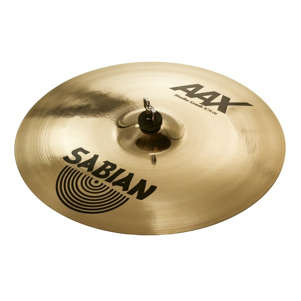 Sabian AAX 16'' Studio Crash Cymbal, Brilliant Finish - Main Image