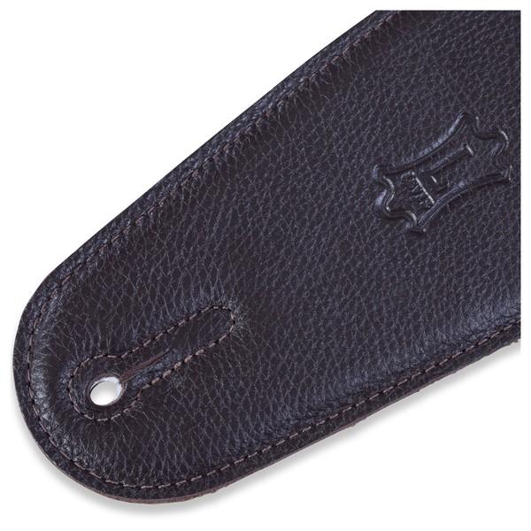 Levys M4GF Garment Leather Strap w/ Thong, Dark Brown End