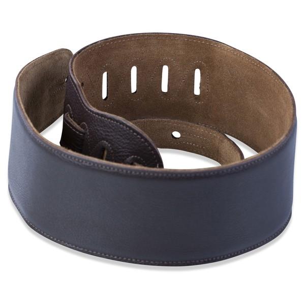 Levys M4GF Garment Leather Strap w/ Thong, Dark Brown Rolled