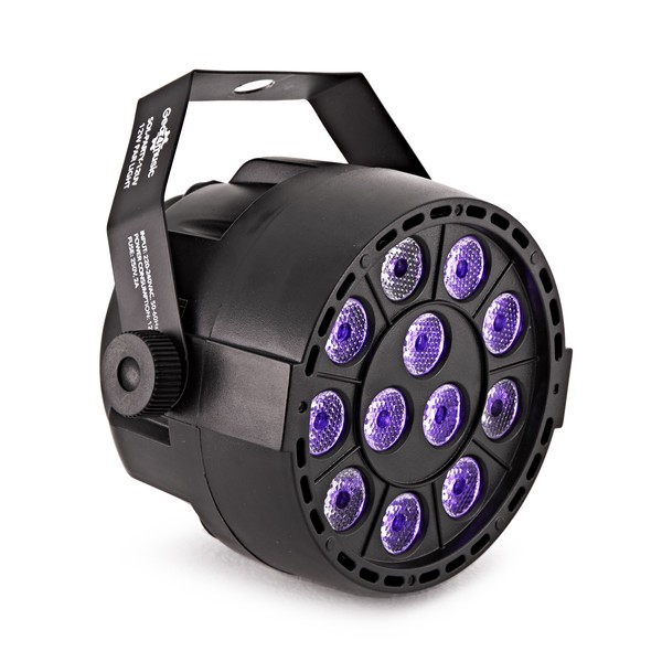 12W UV Party Mini Par Light by Gear4music