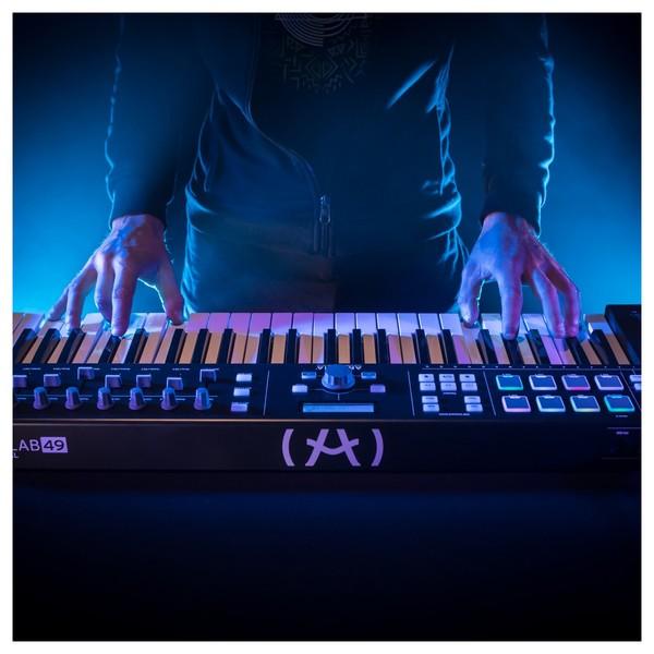 Arturia KeyLab Essential 49 MIDI Keyboard, Black - Lifestyle 4