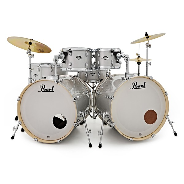 pearl exx export 7pc double bass drum kit arctic sparkle at gear4music. Black Bedroom Furniture Sets. Home Design Ideas