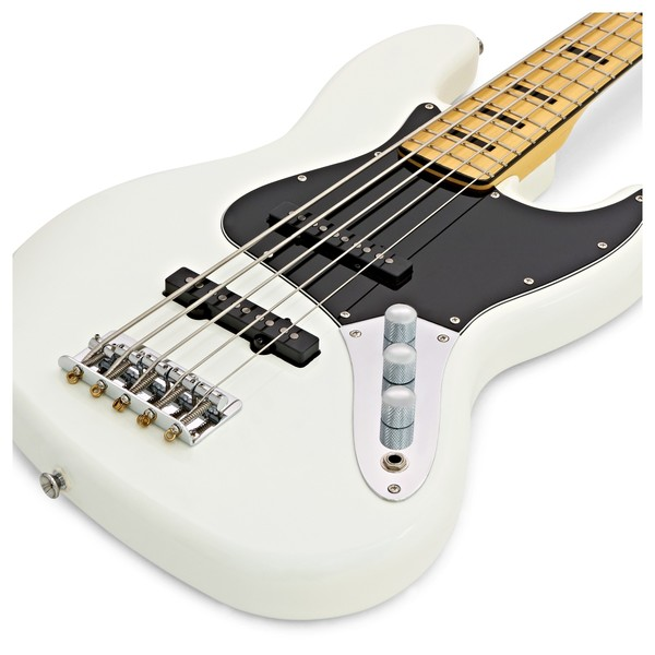 Squier Vintage Modified Jazz Bass V 5-String, Olympic White close