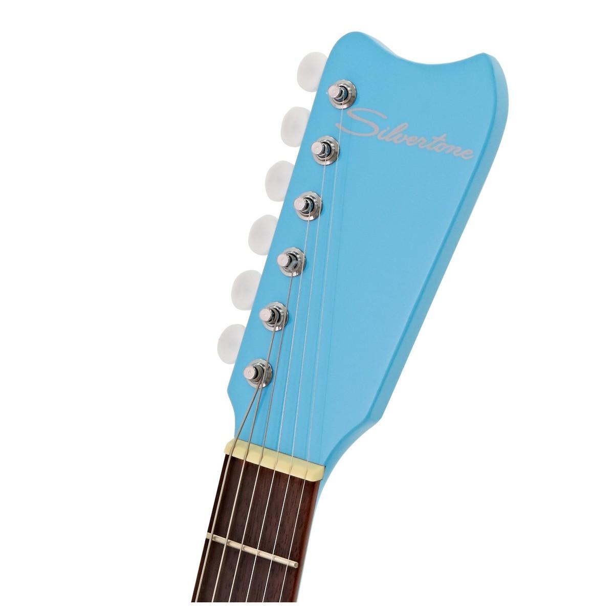 silvertone 1449 electric guitar daphne blue at gear4music. Black Bedroom Furniture Sets. Home Design Ideas