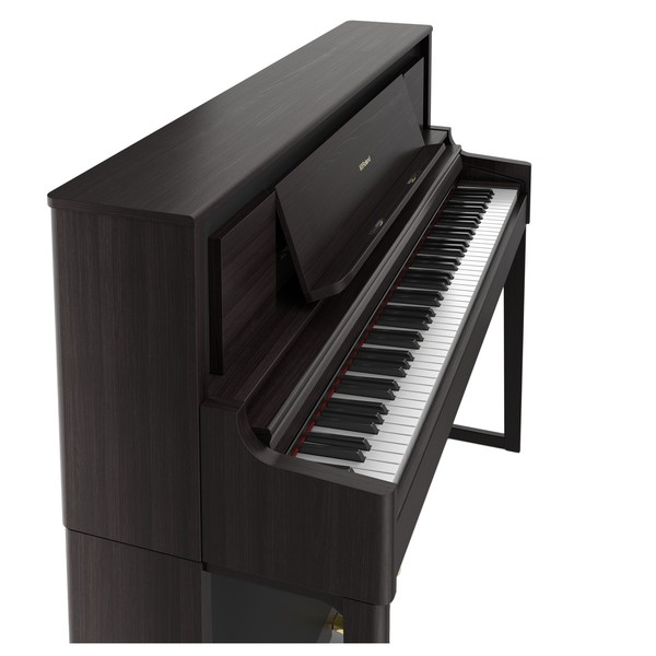 Roland LX706 Digital Piano, Dark Rosewood, Side