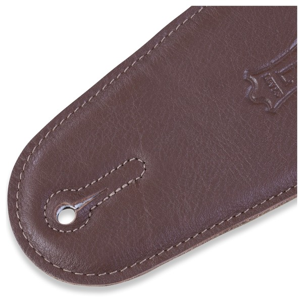 Levys M4GF Garment Leather Strap With Thong, Brown End