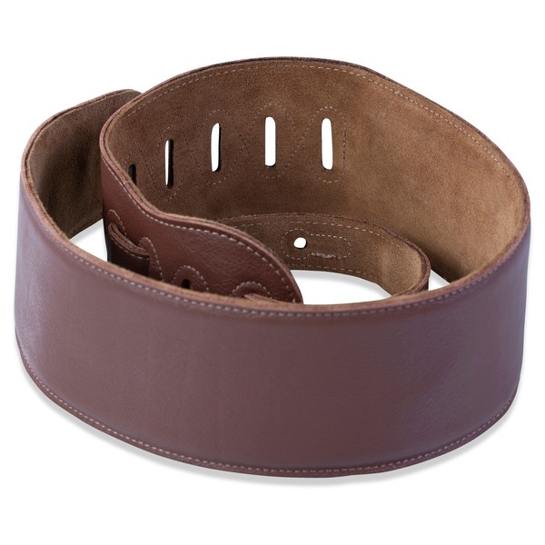Levys M4GF Garment Leather Strap With Thong, Brown Rolled