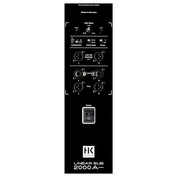 HK Audio Linear L SUB 2000 A 2 x 12'' Active Subwoofer, Rear Panel