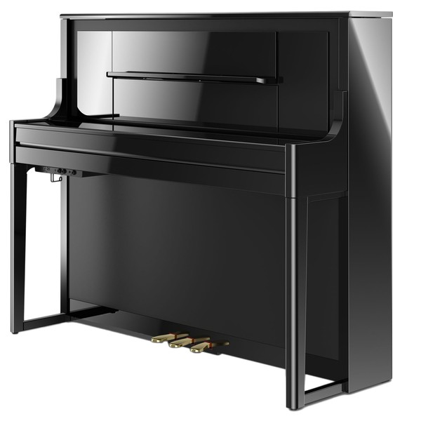 Roland LX708 Digital Piano, Polished Ebony, Closed