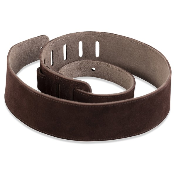 Levys MS26 Suede Leather Strap, Brown Rolled