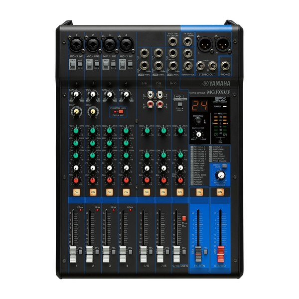 Yamaha mg10xuf table de mixage usb analogique bo te ouverte gear4music - Table de mixage yamaha usb ...