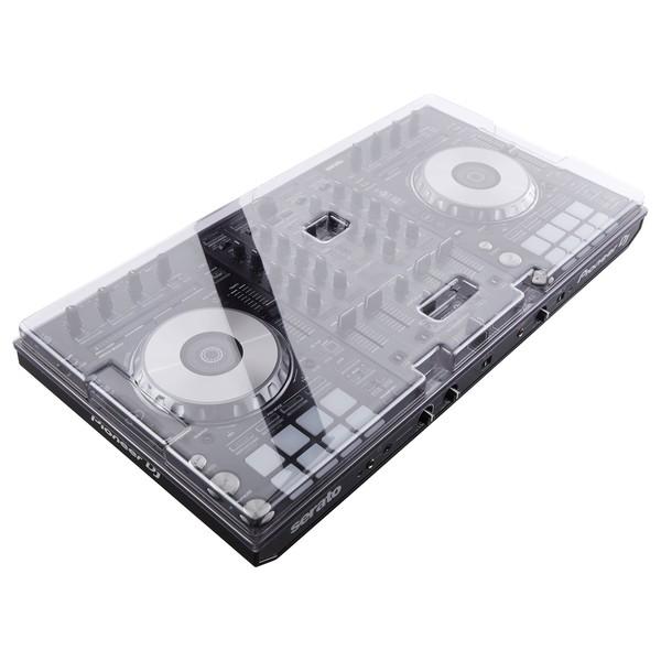 Pioneer DDJ-SX3 DJ Controller with Decksaver Cover - Bundle Angled