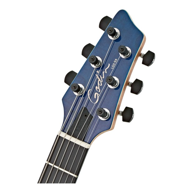 Godin LGX-SA, Translucent Blue head