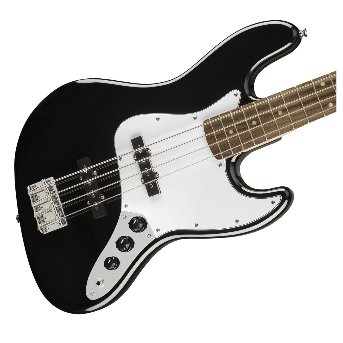 squier affinity jazz bass black at gear4music. Black Bedroom Furniture Sets. Home Design Ideas