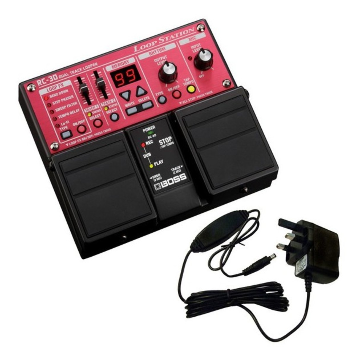 boss rc30 loopstation with power supply at gear4music. Black Bedroom Furniture Sets. Home Design Ideas