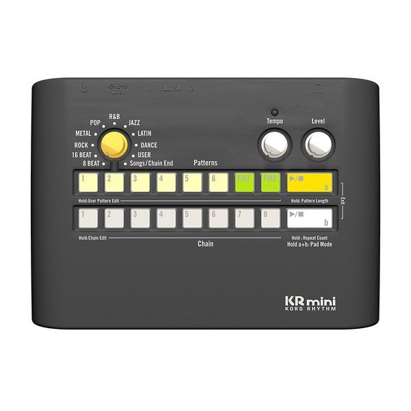 Korg KR mini Korg Rhythm Compact Drum Machine - Top