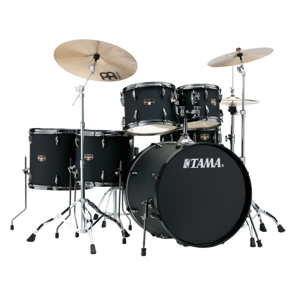"""Tama Imperialstar 22"""" 6pc Drum Kit with Hardware, Blacked Out Black - Main Image"""