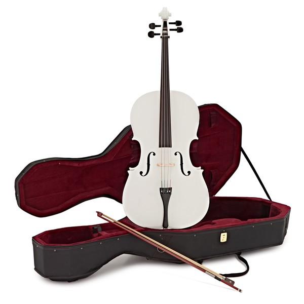 Student Full Size Cello with Case by Gear4music, White