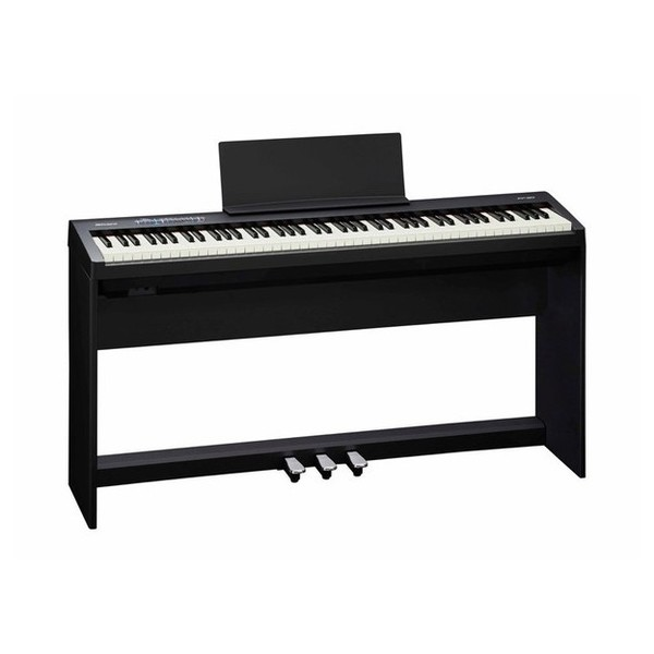 Roland FP 30 Digital Piano with Stand and Pedals, Black