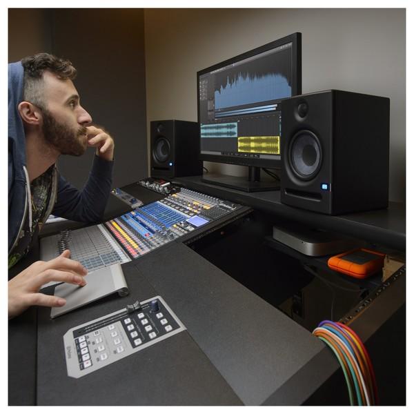 PreSonus Eris E5 Active Studio Monitors, with Stands - Lifestyle 2