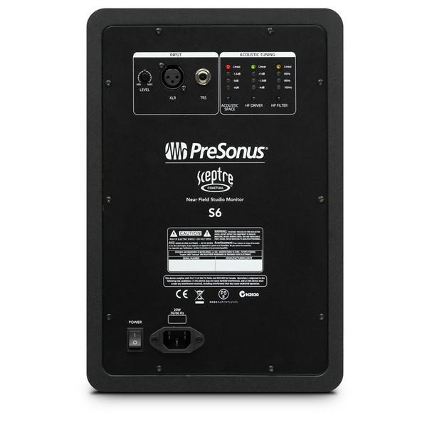 PreSonus Sceptre S6 CoActual Studio Monitors - Back