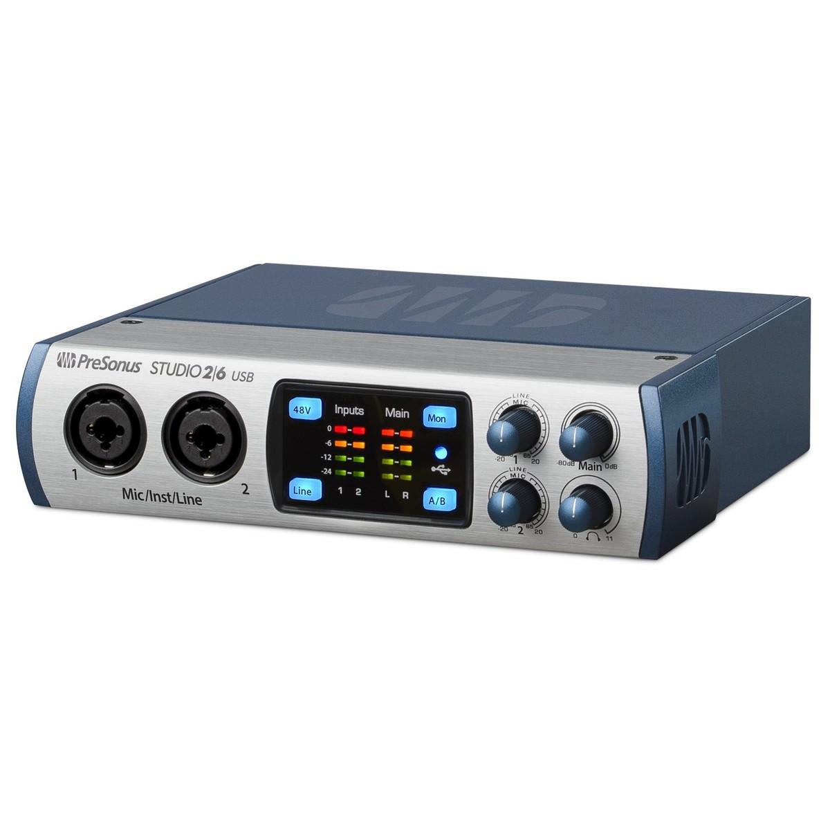 presonus studio 2 6 audio interface at gear4music. Black Bedroom Furniture Sets. Home Design Ideas