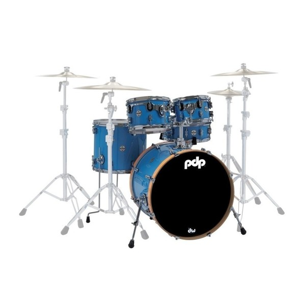 PDP Concept Maple LTD Edition 5pc Shell Pack, Blue Lacquer - Main Image