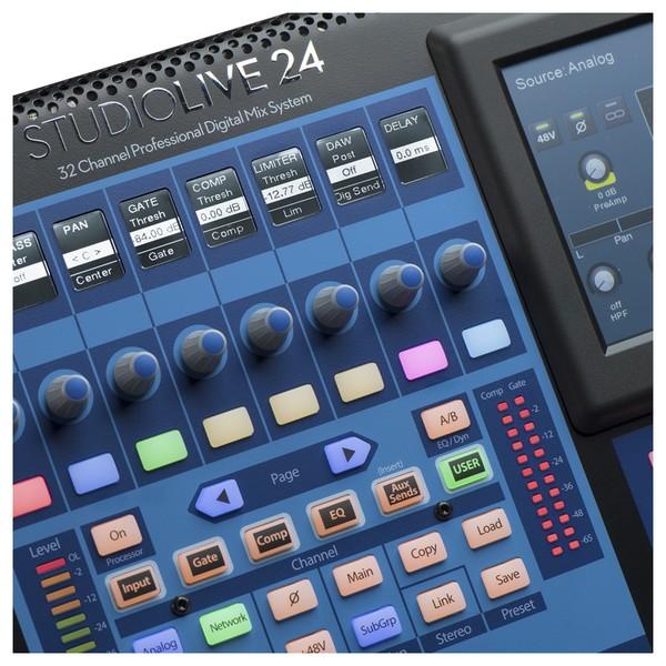 PreSonus StudioLive 24 Series III Digital Mixer - Macro Close Up